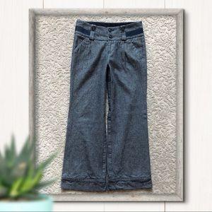 Anthro Cidra Wide Leg Trousers Cotton/ Wool Size 0